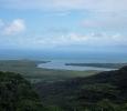 vue sur l embouchure de la daintree river et de la mer de corail